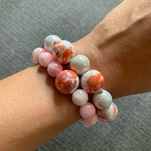 Handmade Beaded Bracelets (pair of two)